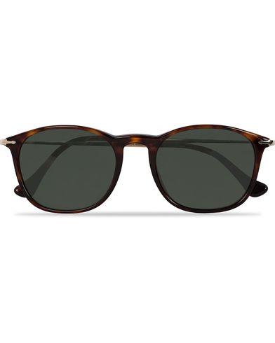 Persol 0PO3124S Round Sunglasses Havana/Green  i gruppen Solglas�gon hos Care of Carl (12670910)