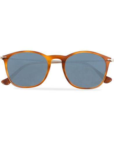 Persol 0PO3124S Round Sunglasses Light Havana/Silver Mirror  i gruppen Solglas�gon hos Care of Carl (12671010)