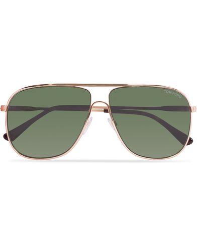 Tom Ford FT0451 Dominic Sunglasses Gold/Green i gruppen Solbriller hos Care of Carl (12671810)