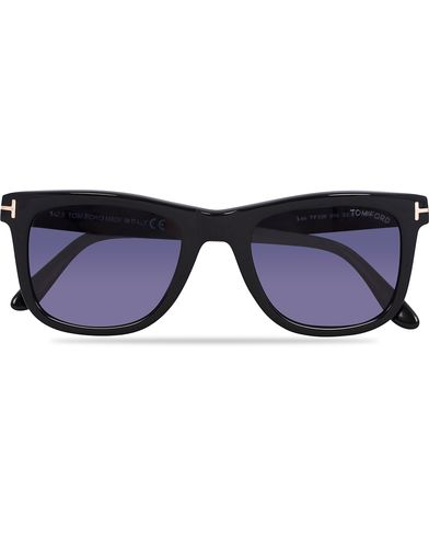 Tom Ford FT0336 Leo Sunglasses Black  i gruppen Assesoarer / Solbriller / Buede solbriller hos Care of Carl (12672010)