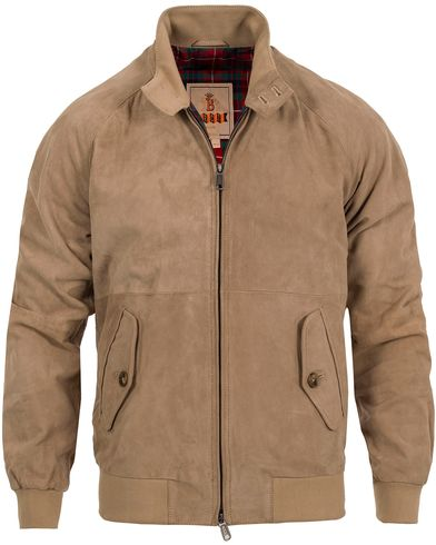 Baracuta G9 Original Harrington Jacket Suede i gruppen Jakker / Skinnjakker hos Care of Carl (12672411r)