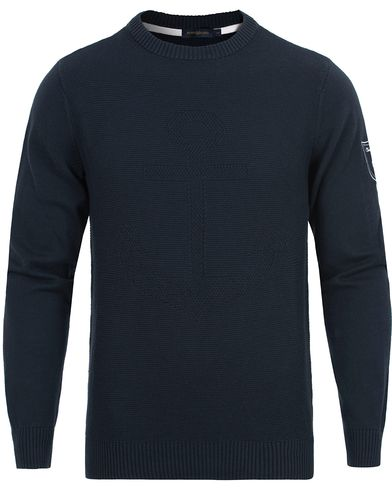 Henri Lloyd Keilhill Regular Crew Knit Navy i gruppen Gensere / Strikkede gensere hos Care of Carl (12676011r)