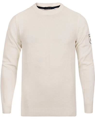 Henri Lloyd Keilhill Regular Crew Knit Surf i gruppen Gensere / Strikkede gensere hos Care of Carl (12676111r)
