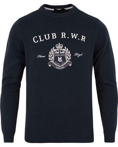 Henri Lloyd Tanworth Regular Crew Knit Navy i gruppen Tröjor / Stickade tröjor hos Care of Carl (12676311r)