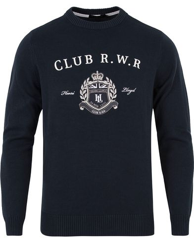 Henri Lloyd Tanworth Regular Crew Knit Navy i gruppen Kläder / Tröjor / Stickade tröjor hos Care of Carl (12676311r)