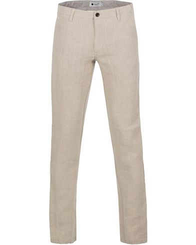 NN07 New Simon Linen Trousers Oat Nature i gruppen Byxor hos Care of Carl (12678111r)