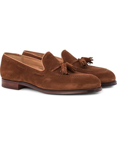 Crockett & Jones Cavendish Tassel Loafer Polo Suede i gruppen Sko / Loafers hos Care of Carl (12680211r)
