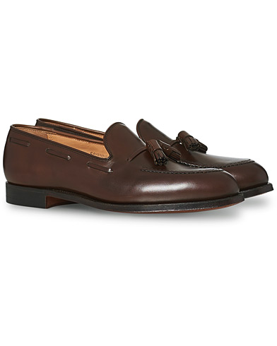 Crockett & Jones Cavendish Tassel Loafer Dark Brown Calf i gruppen Skor hos Care of Carl (12680411r)
