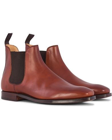 Crockett & Jones Chelsea Boot Chestnut Calf i gruppen Skor / Kängor / Chelsea boots hos Care of Carl (12680911r)