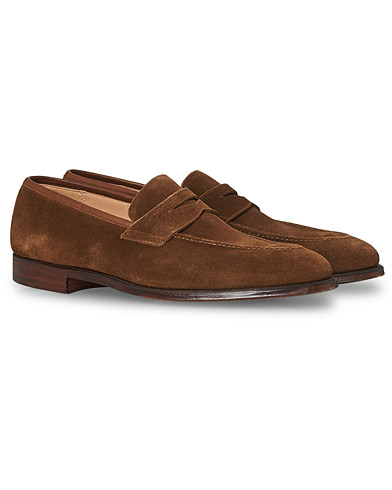 Crockett & Jones Sydney Loafer Snuff Suede i gruppen Skor / Loafers hos Care of Carl (12681111r)
