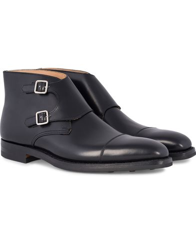 Crockett & Jones MTO Camberley Double Dainite  Black Calf i gruppen Design B / Skor / Munkskor hos Care of Carl (12681211r)