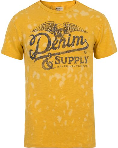 Denim & Supply Ralph Lauren Logo Slub Jersey Tee Yellow i gruppen T-Shirts / Kortärmade t-shirts hos Care of Carl (12683311r)