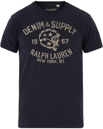 Denim & Supply Ralph Lauren Motor Tee Navy Star i gruppen Klær / T-Shirts / Kortermede t-shirts hos Care of Carl (12683611r)