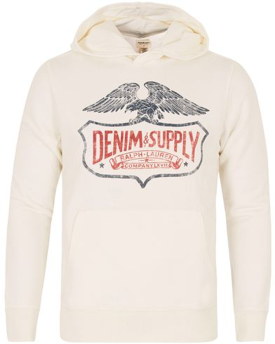 Denim & Supply Ralph Lauren Pop Over Eagle Hoodie Antique Cream i gruppen Gensere / Hettegensere hos Care of Carl (12684011r)