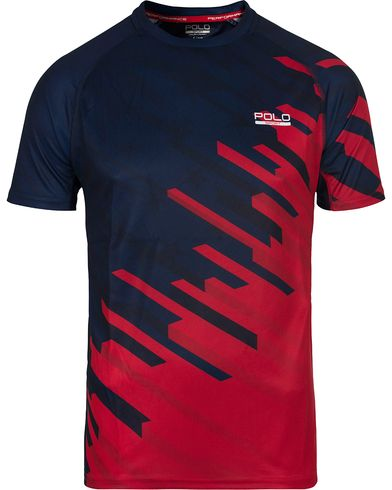 Polo Sport Ralph Lauren Performance USA Fractured Flag Tee Red/Navy i gruppen T-Shirts / Kortermede t-shirts hos Care of Carl (12684511r)