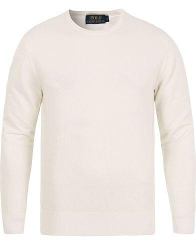 Polo Ralph Lauren Cotton/Cashmere Crew Neck White i gruppen Kläder / Tröjor / Stickade tröjor hos Care of Carl (12686211r)