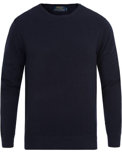 Polo Ralph Lauren Cotton/Cashmere Crew Neck Navy i gruppen Klær / Gensere / Strikkede gensere hos Care of Carl (12686311r)