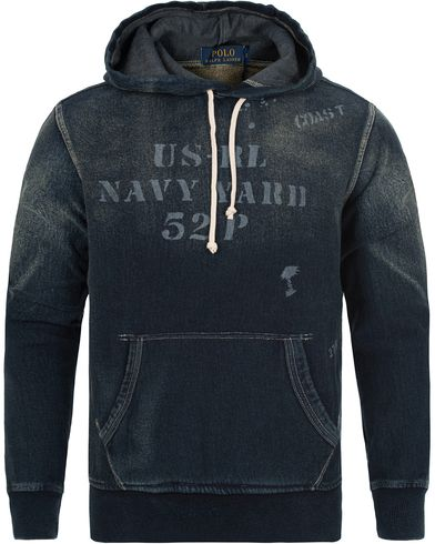Polo Ralph Lauren Washed Bleached Hoodie Medium Indigo i gruppen Gensere / Hettegensere hos Care of Carl (12686511r)