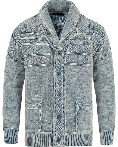Polo Ralph Lauren Shawl Collar Cotton Cardigan Mid Indigo i gruppen Gensere / Cardigans hos Care of Carl (12686611r)
