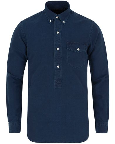 Polo Ralph Lauren Core Fit Oxford Half Button Shirt Indigo i gruppen Skjortor / Casual skjortor hos Care of Carl (12687911r)
