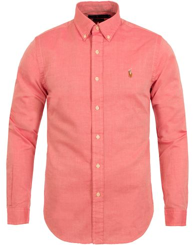 Polo Ralph Lauren Slim Fit Chambray Oxford Shirt Spanish Red i gruppen Skjorter / Oxfordskjorter hos Care of Carl (12688111r)