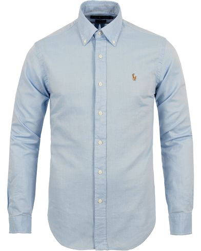 Polo Ralph Lauren Slim Fit Chambray Oxford Shirt Light Blue i gruppen Skjorter / Oxfordskjorter hos Care of Carl (12688211r)