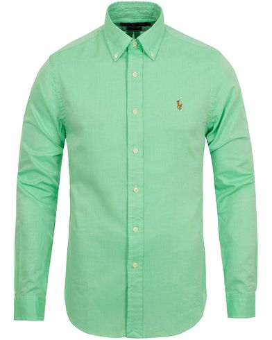 Polo Ralph Lauren Slim Fit Chambray Oxford Shirt Lime Green i gruppen Skjortor / Oxfordskjortor hos Care of Carl (12688311r)