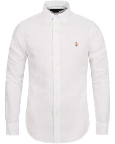 Polo Ralph Lauren Slim Fit Chambray Oxford Shirt White i gruppen Skjortor / Oxfordskjortor hos Care of Carl (12688511r)