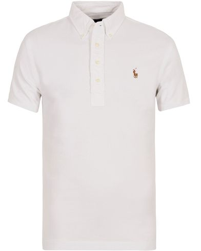 Polo Ralph Lauren Oxford Knit Polo White i gruppen Kläder / Pikéer / Kortärmade pikéer hos Care of Carl (12688711r)