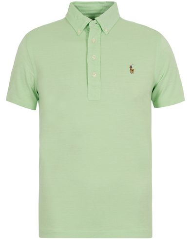 Polo Ralph Lauren Oxford Knit Polo Lime Green i gruppen Klær / Pikéer / Kortermet piké hos Care of Carl (12688811r)