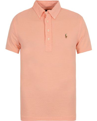 Polo Ralph Lauren Oxford Knit Polo Pale Melon i gruppen Pikéer / Kortärmade pikéer hos Care of Carl (12689111r)