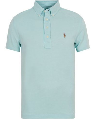 Polo Ralph Lauren Oxford Knit Polo Aquamarine i gruppen Pikéer / Kortermet piké hos Care of Carl (12689211r)