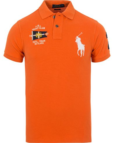 Polo Ralph Lauren Yacht Club Polo Resort Orange i gruppen Pikéer / Kortermet piké hos Care of Carl (12689911r)