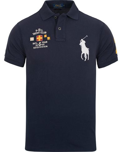 Polo Ralph Lauren Yacht Club Polo Chateau Navy i gruppen Pikéer / Kortermet piké hos Care of Carl (12690011r)