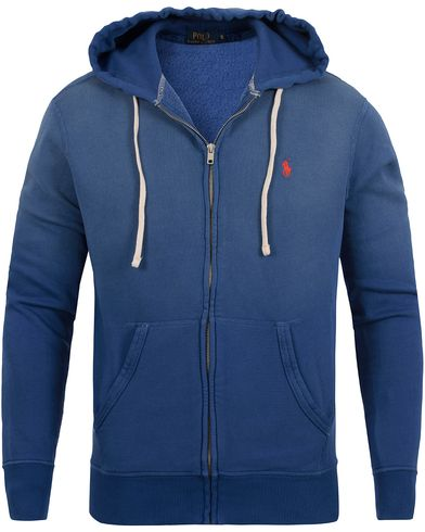 Polo Ralph Lauren Full Zip Hoodie Marquise Blue i gruppen Tr�jor / Huvtr�jor hos Care of Carl (12690711r)