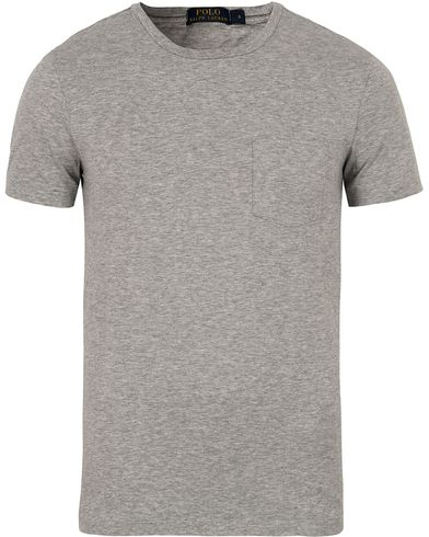 Polo Ralph Lauren Crew Neck Pocket Tee Andover Heather i gruppen Kläder / T-Shirts / Kortärmade t-shirts hos Care of Carl (12691211r)