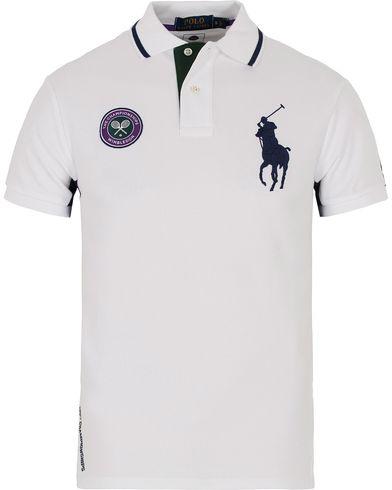 Polo Ralph Lauren Wimbledon Polo White Multi i gruppen Klær / Pikéer / Kortermet piké hos Care of Carl (12693011r)
