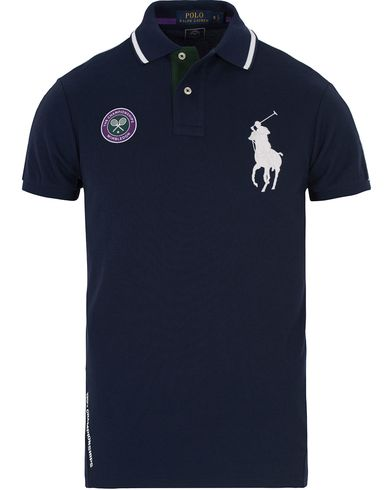 Polo Ralph Lauren Wimbledon Polo Navy Multi i gruppen Pik�er / Kort�rmad Pik� hos Care of Carl (12693211r)