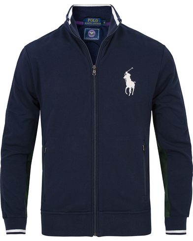 Polo Ralph Lauren Wimbledon Ball Boy Full Zip Sweat Navy/Green i gruppen Kläder / Tröjor / Zip-tröjor hos Care of Carl (12694311r)