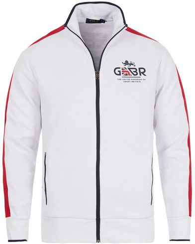 Polo Ralph Lauren Great Britain Full Zip Sweater White/Red i gruppen Kläder / Tröjor / Zip-tröjor hos Care of Carl (12695111r)