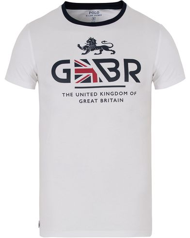 Polo Ralph Lauren Great Britain Tee Pure White i gruppen Kläder / T-Shirts / Kortärmade t-shirts hos Care of Carl (12695211r)