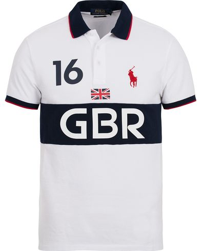 Polo Ralph Lauren Great Britain Polo White/Navy i gruppen Pikéer / Kortärmade pikéer hos Care of Carl (12695311r)