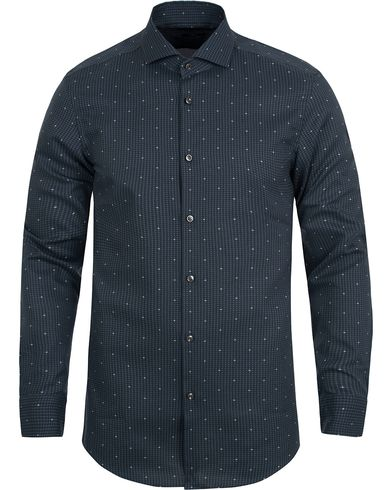 BOSS Jason Slim Fit Printed Stars Shirt Petrolum  i gruppen Skjortor / Businesskjortor hos Care of Carl (12698311r)