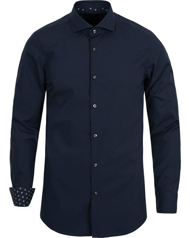 BOSS Jery Slim Fit Contrast Shirt Navy i gruppen Skjorter / Formelle skjorter hos Care of Carl (12698411r)