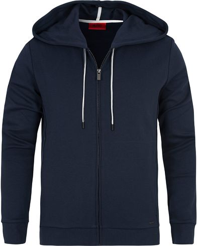 HUGO Dalermo Hood Dark Blue i gruppen Kläder / Tröjor / Huvtröjor hos Care of Carl (12700411r)