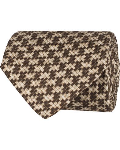 Oscar Jacobson Structure Tie 8,5 cm Brown  i gruppen Assesoarer / Slips hos Care of Carl (12701710)