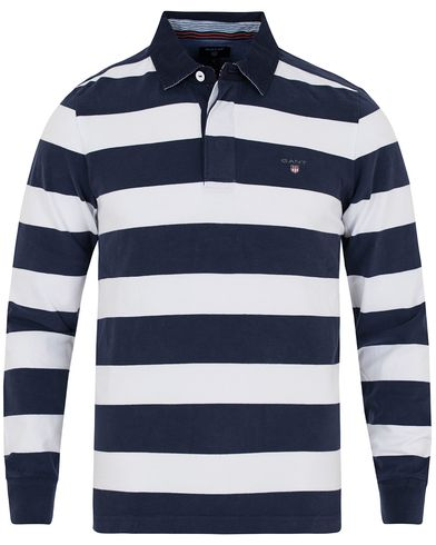 Gant Striped Heavy Rugger Navy i gruppen Klær / Gensere / Rugbygensere hos Care of Carl (12705711r)