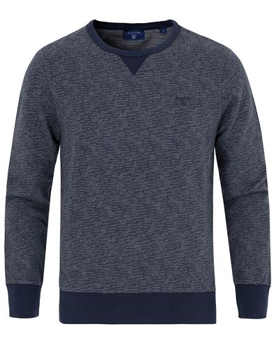 Gant Slub Jacquard C-Neck Sweat Navy i gruppen Tröjor / Sweatshirts hos Care of Carl (12705911r)