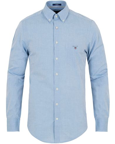 GANT Air Chambray Regular Fit Shirt Hamptons Blue i gruppen Kläder / Skjortor / Casual skjortor hos Care of Carl (12706911r)
