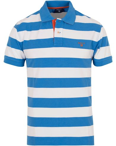 Gant Contrast Colour Barstripe Polo Palace Blue i gruppen Pik�er / Kort�rmad Pik� hos Care of Carl (12707211r)